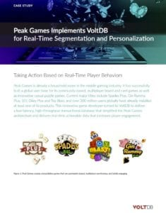 VoltDB Game Analytics / Peak Games Case Study