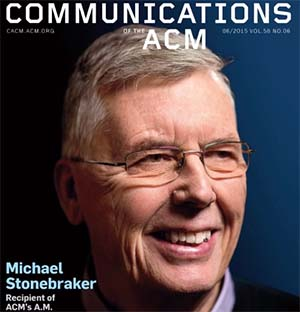 Micheal Stonebraker - Recipient of ACM Award