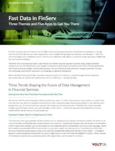 Technical Overview Fast Data in FiServ