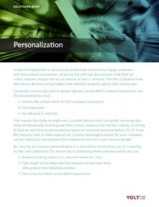 VoltDB Solution Brief Personalization