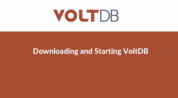 Video: Getting Started with VoltDB