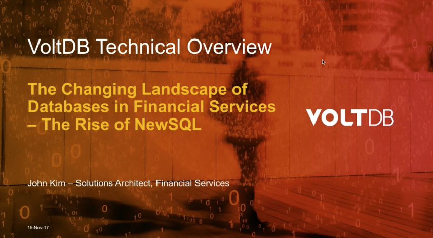 Preview Image: The Changing Landscape of Databases in Financial Services —The Rise of NewSQL