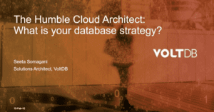 Humble Cloud Architect: Database Strategy Webinar