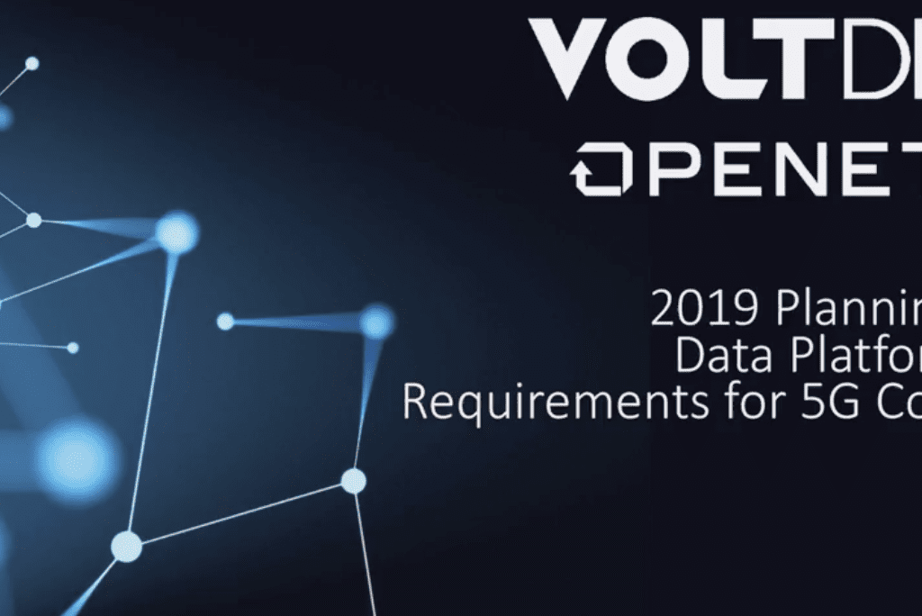 2019 Planning: Data Platform Requirements for 5G Core
